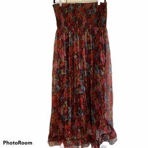 American Rag Floral Print Hi Low Maxi Dress